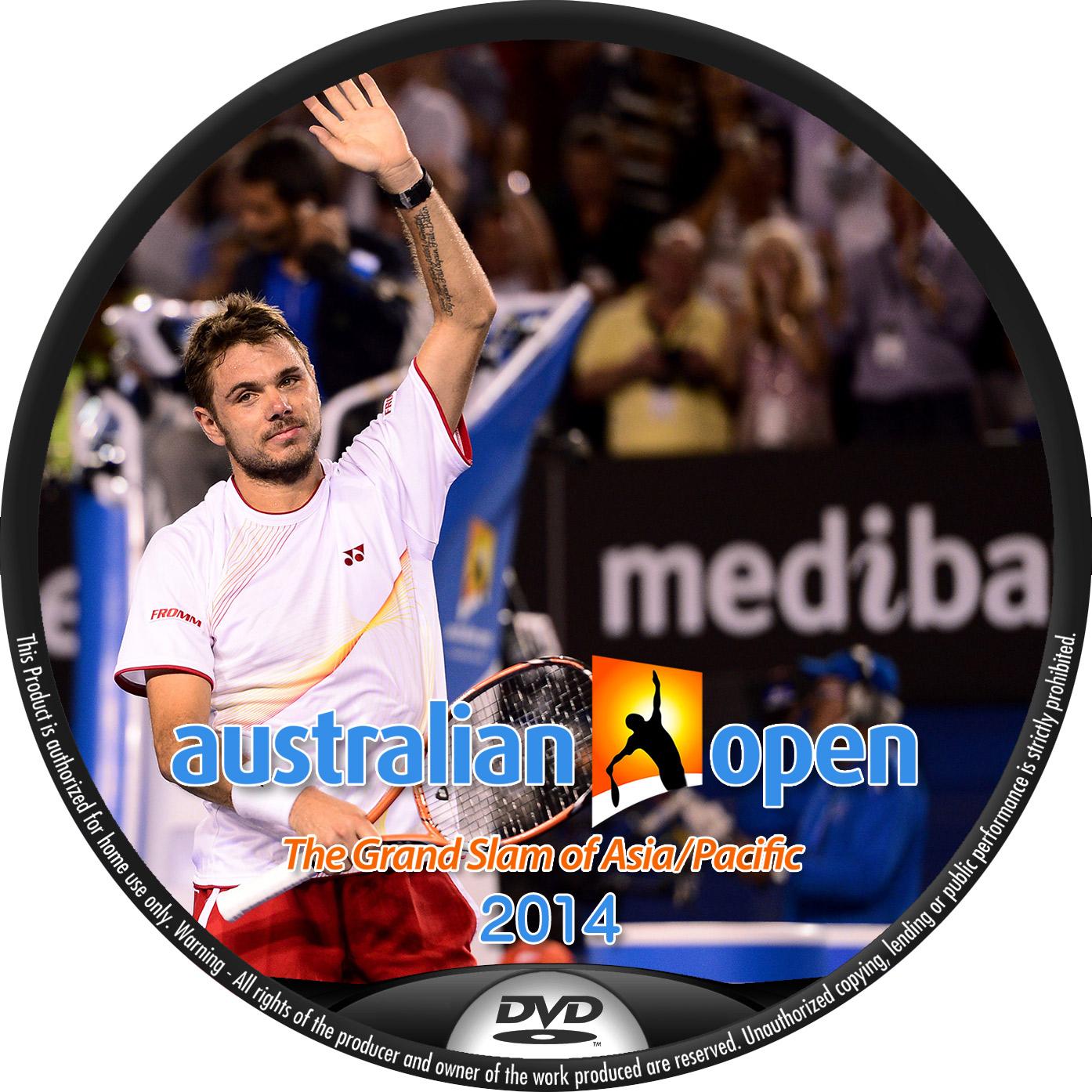 全豪オープン バブリンカ DVDラベル    全豪オープンテニス 2014