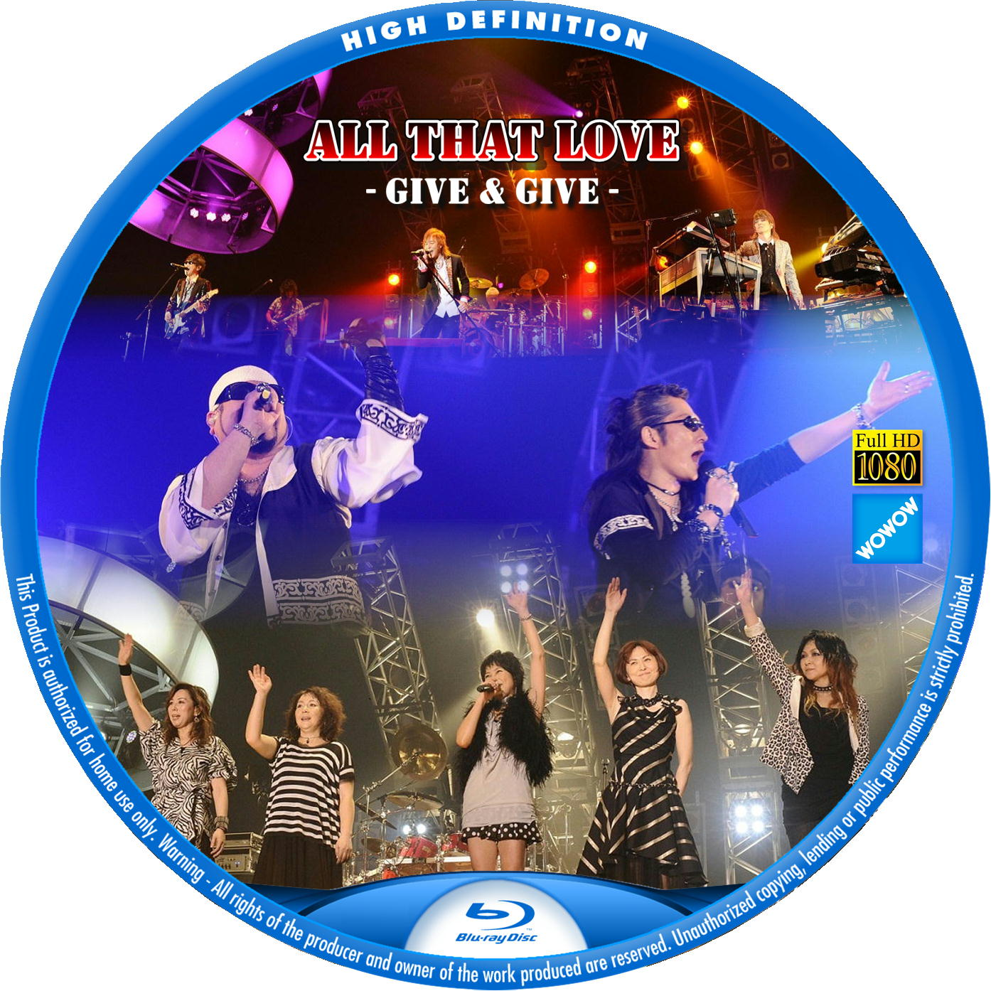 All That Love - GIVE & GIVE - BDラベル