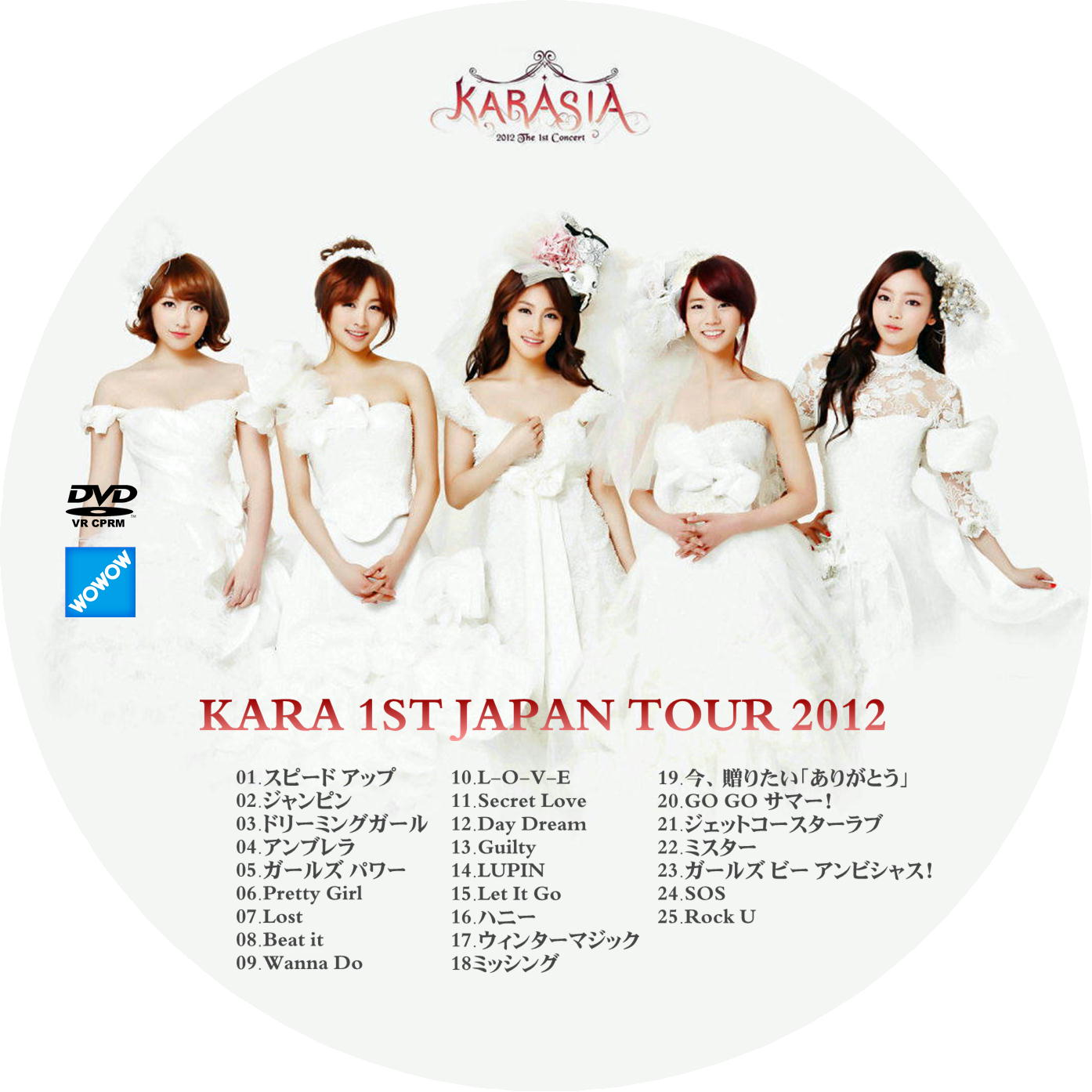 KARA 1ST JAPAN TOUR 2012 DVDラベル