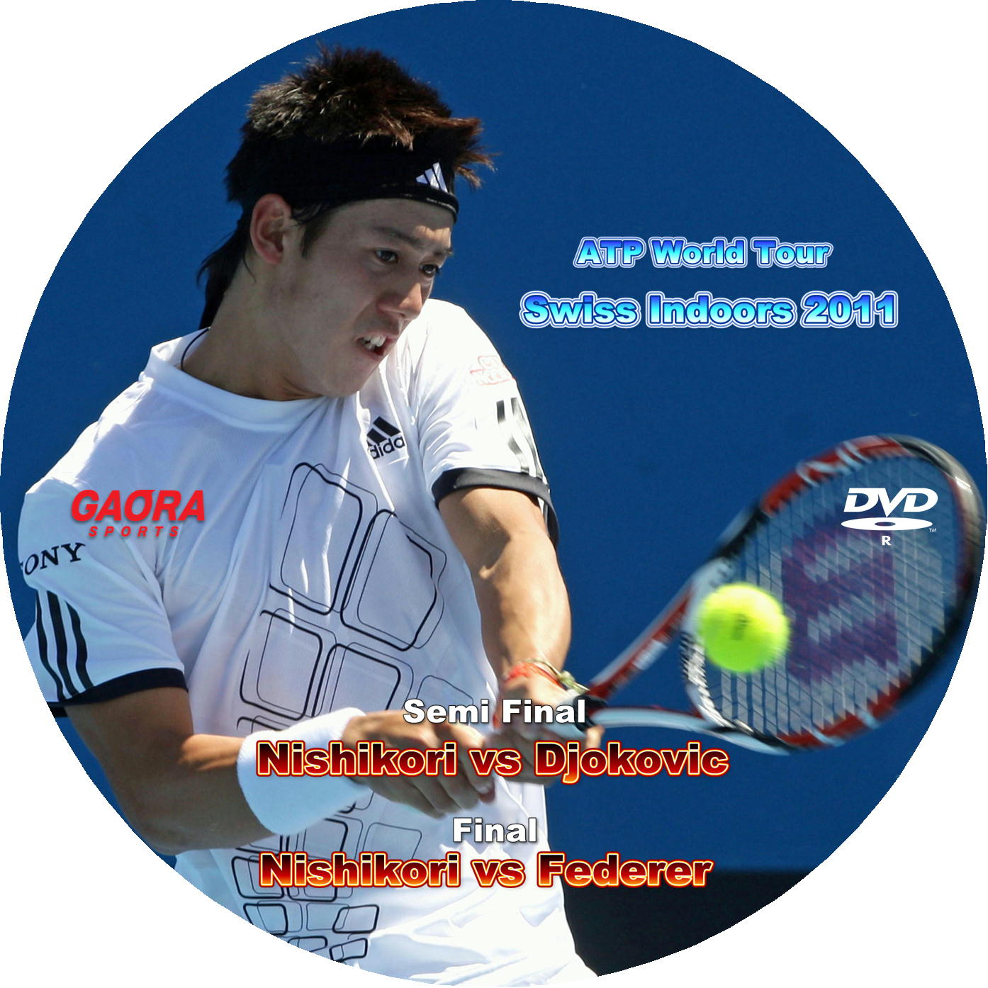 錦織圭 Swiss Indoors 2011 DVDラベル