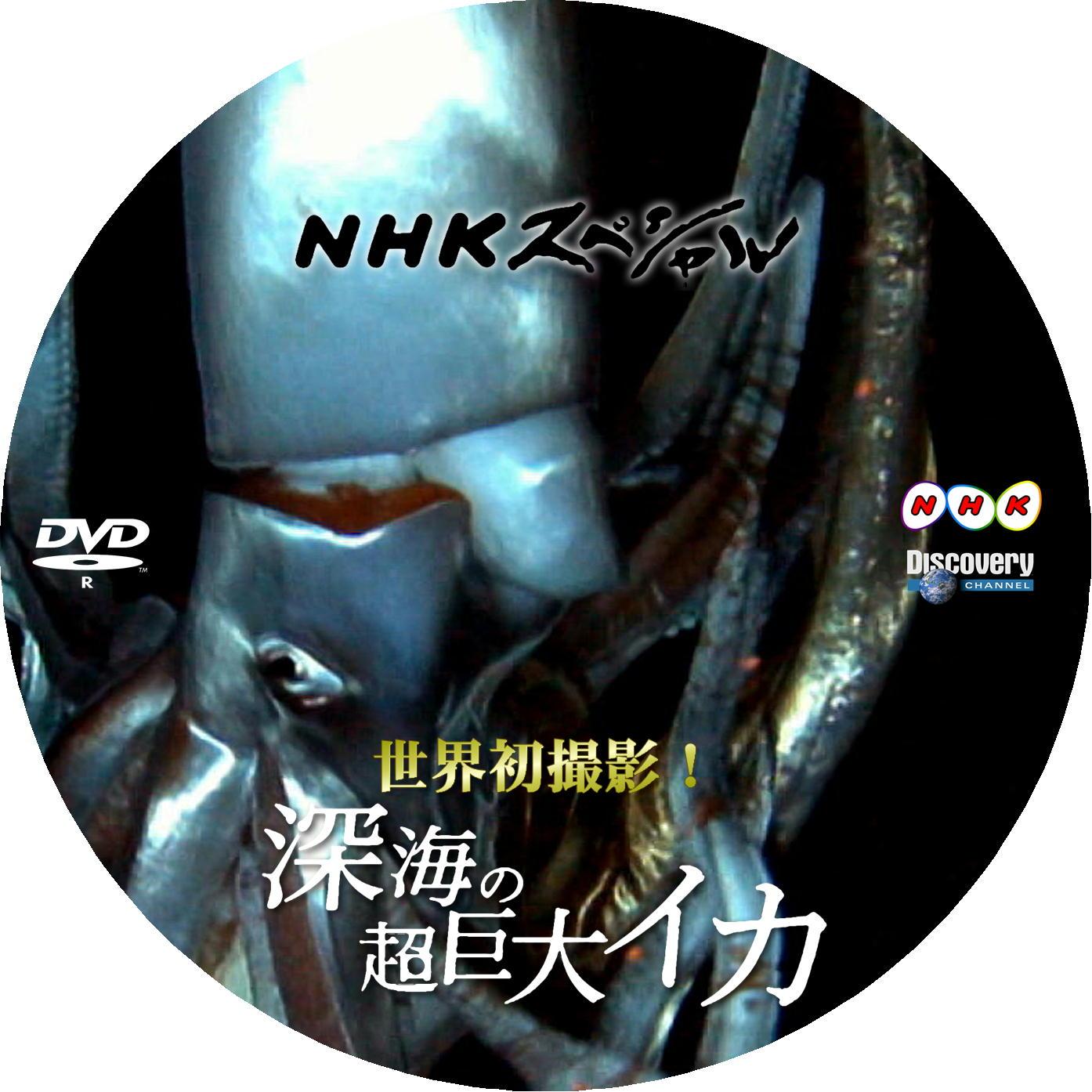ダイオウイカ DVDラベル