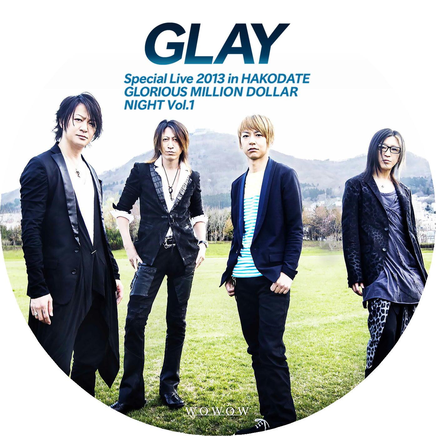 GLAY DVDラベル プロモーション写真