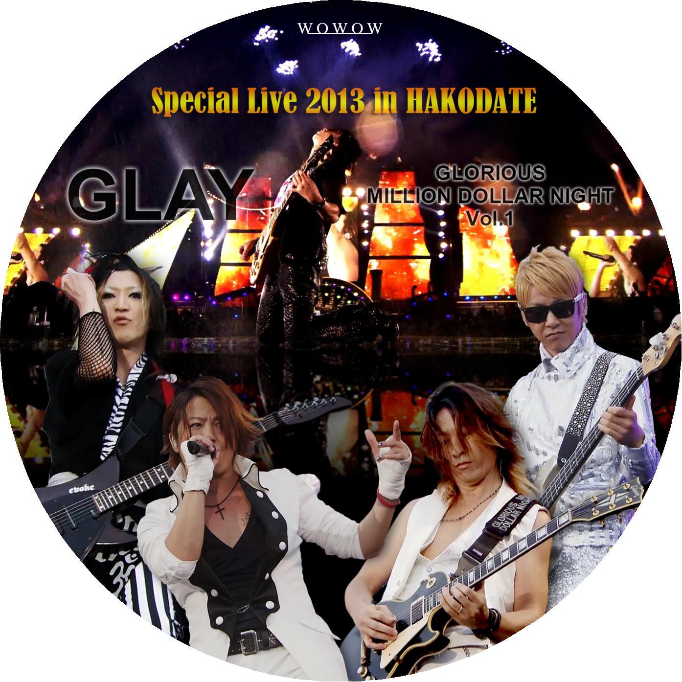 函館 GLAY DVDラベル