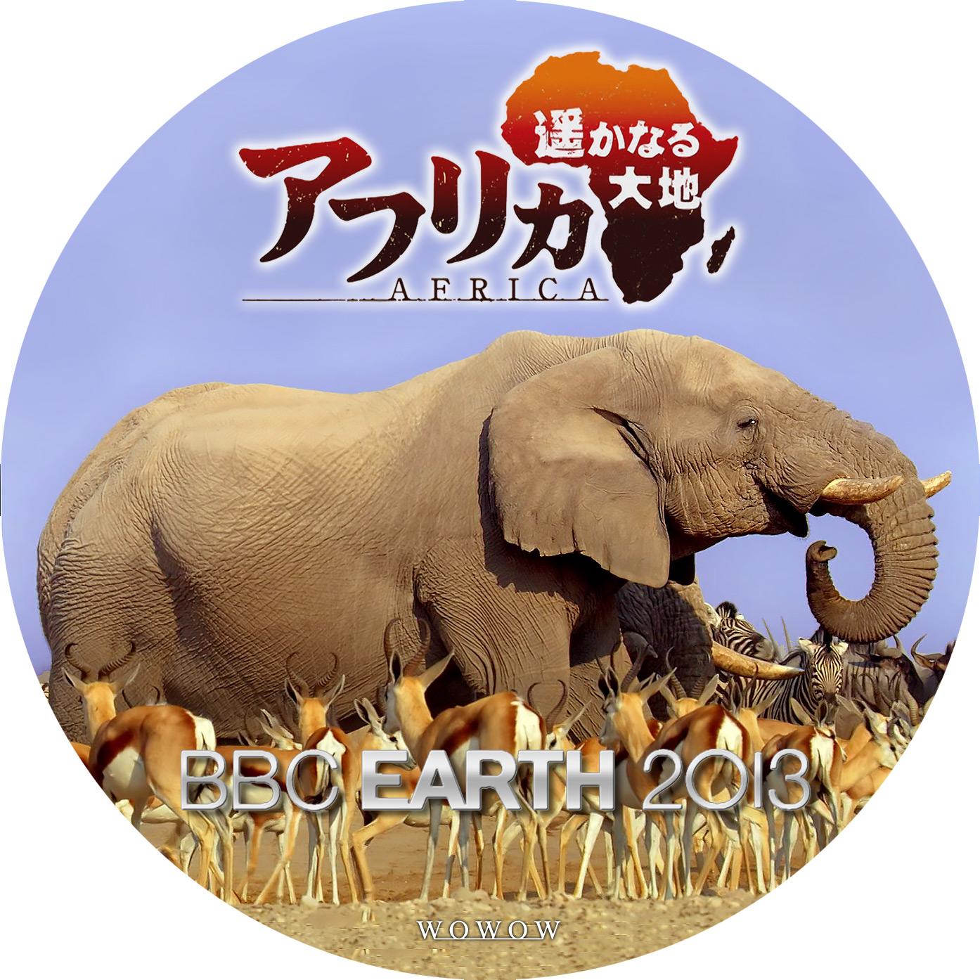 BBC EARTH 2013 AFRICA DVDラベル