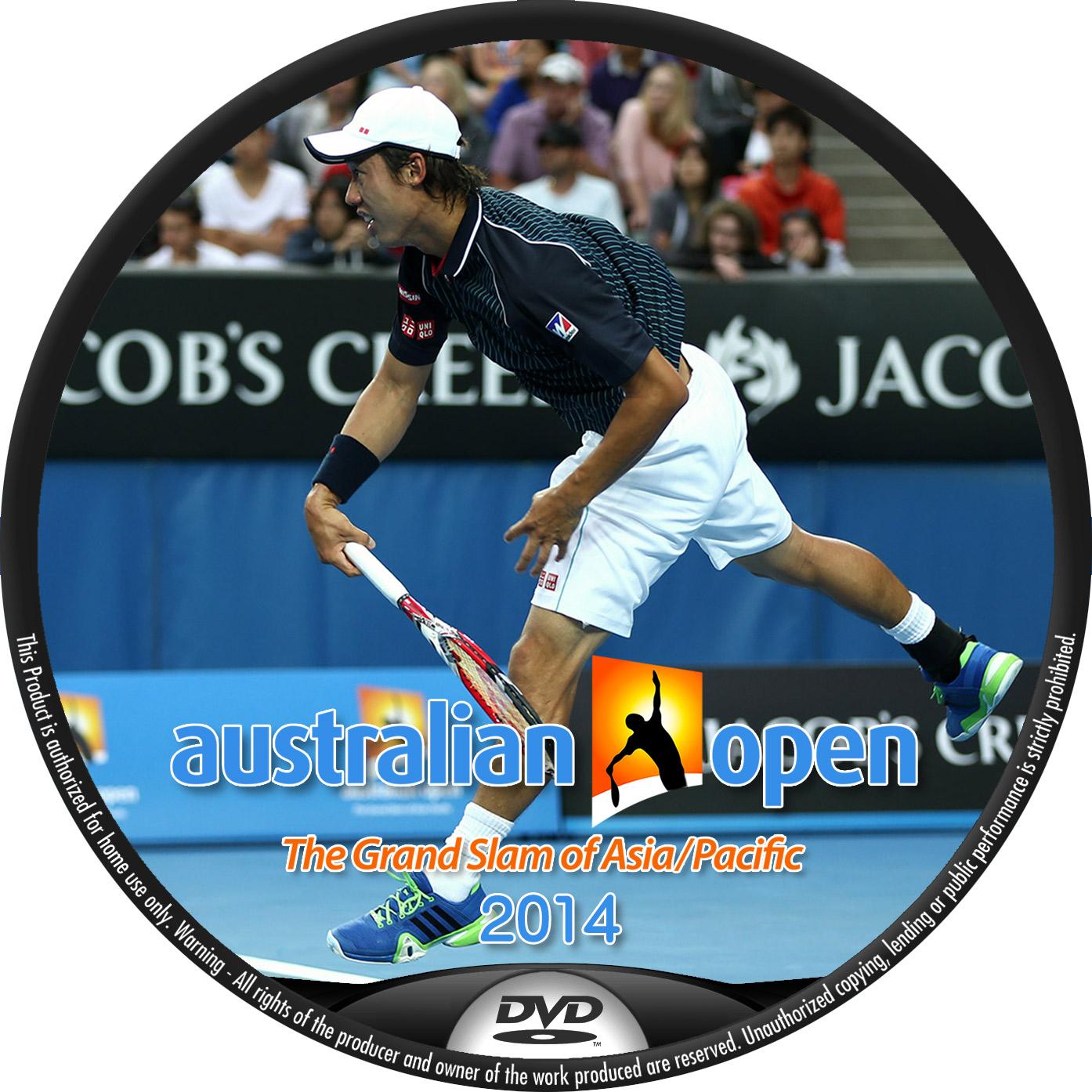 全豪オープン 錦織圭 DVDラベル