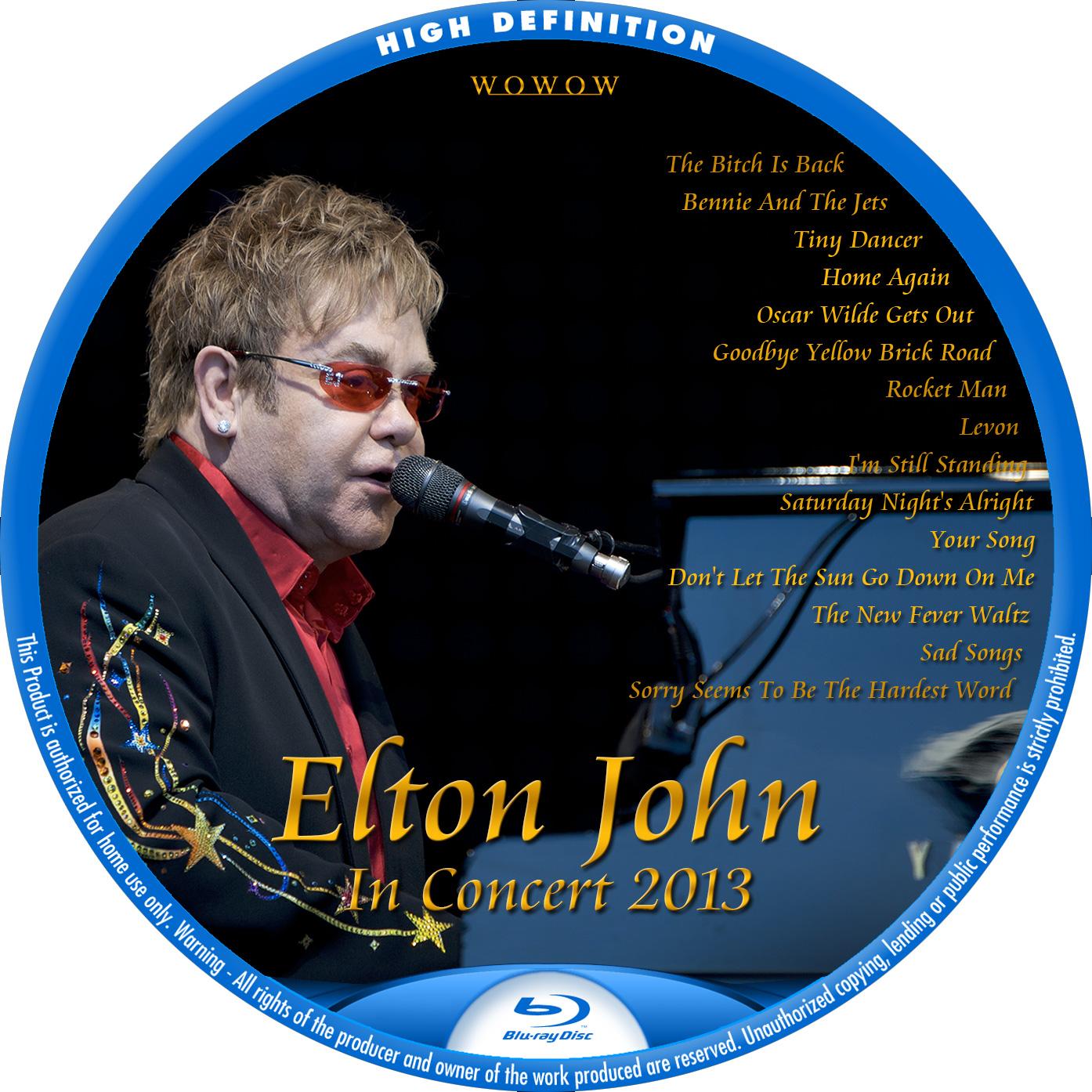 Elton John WOWOW BDラベル