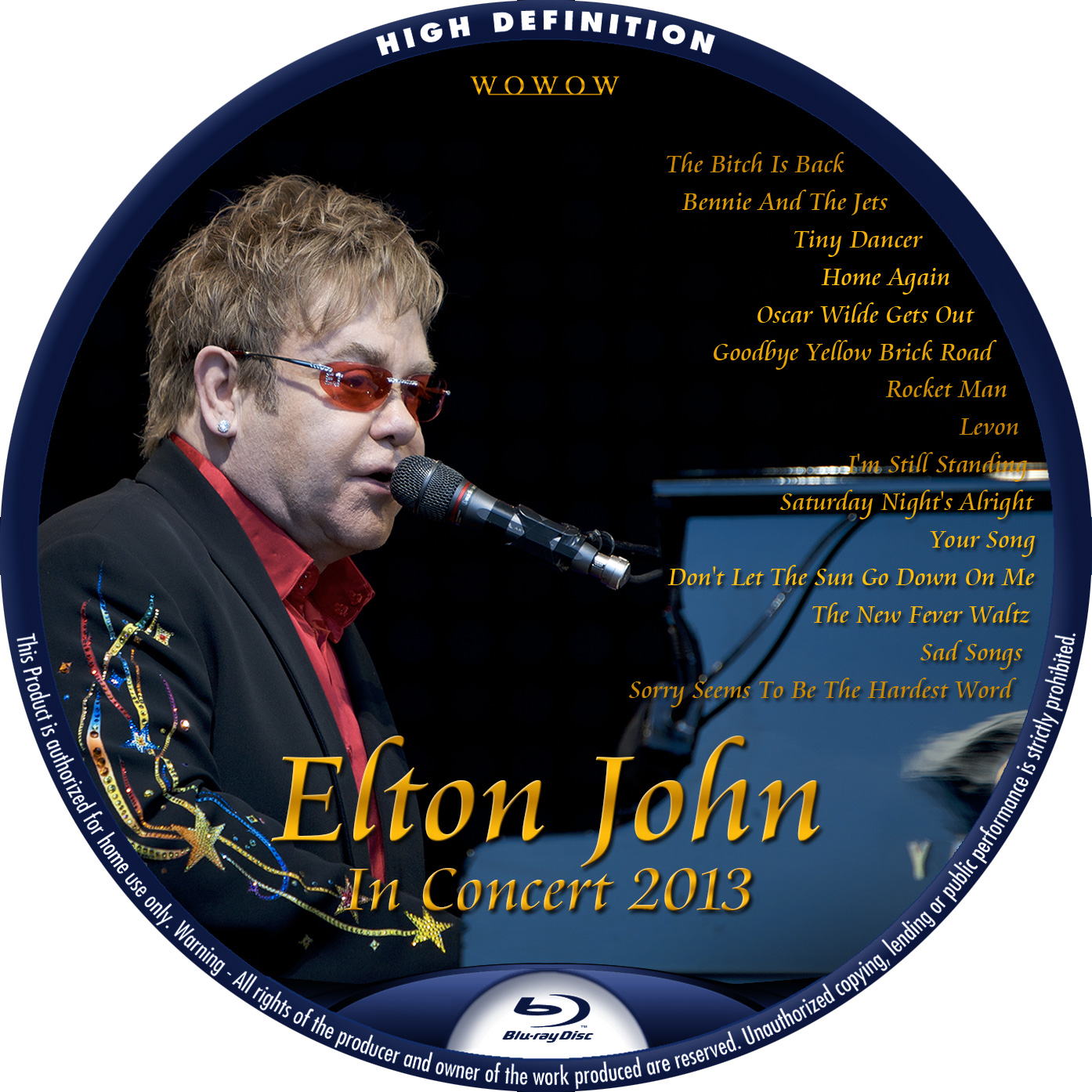 Elton John BBC BDラベル