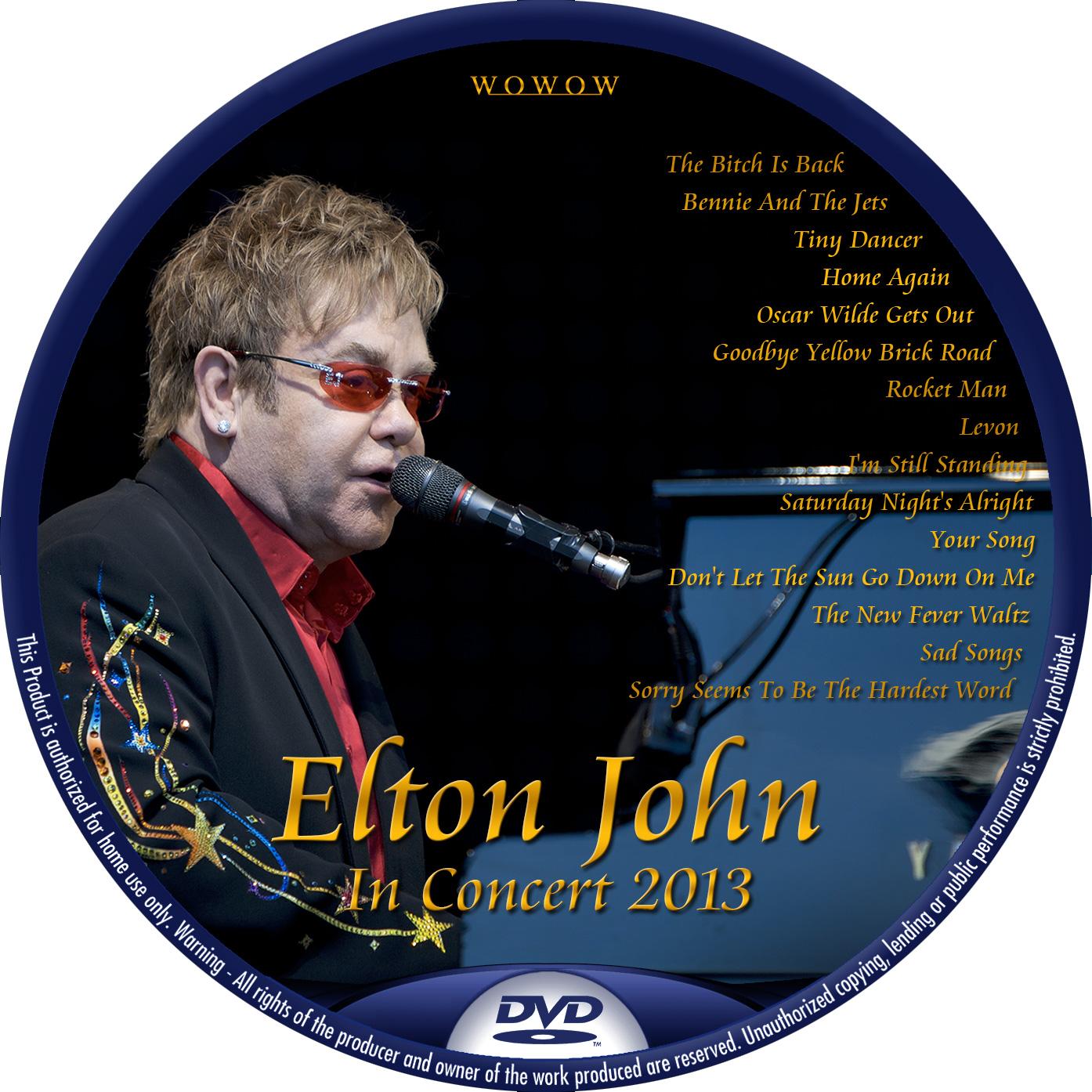 Elton John WOWOW DVDラベル