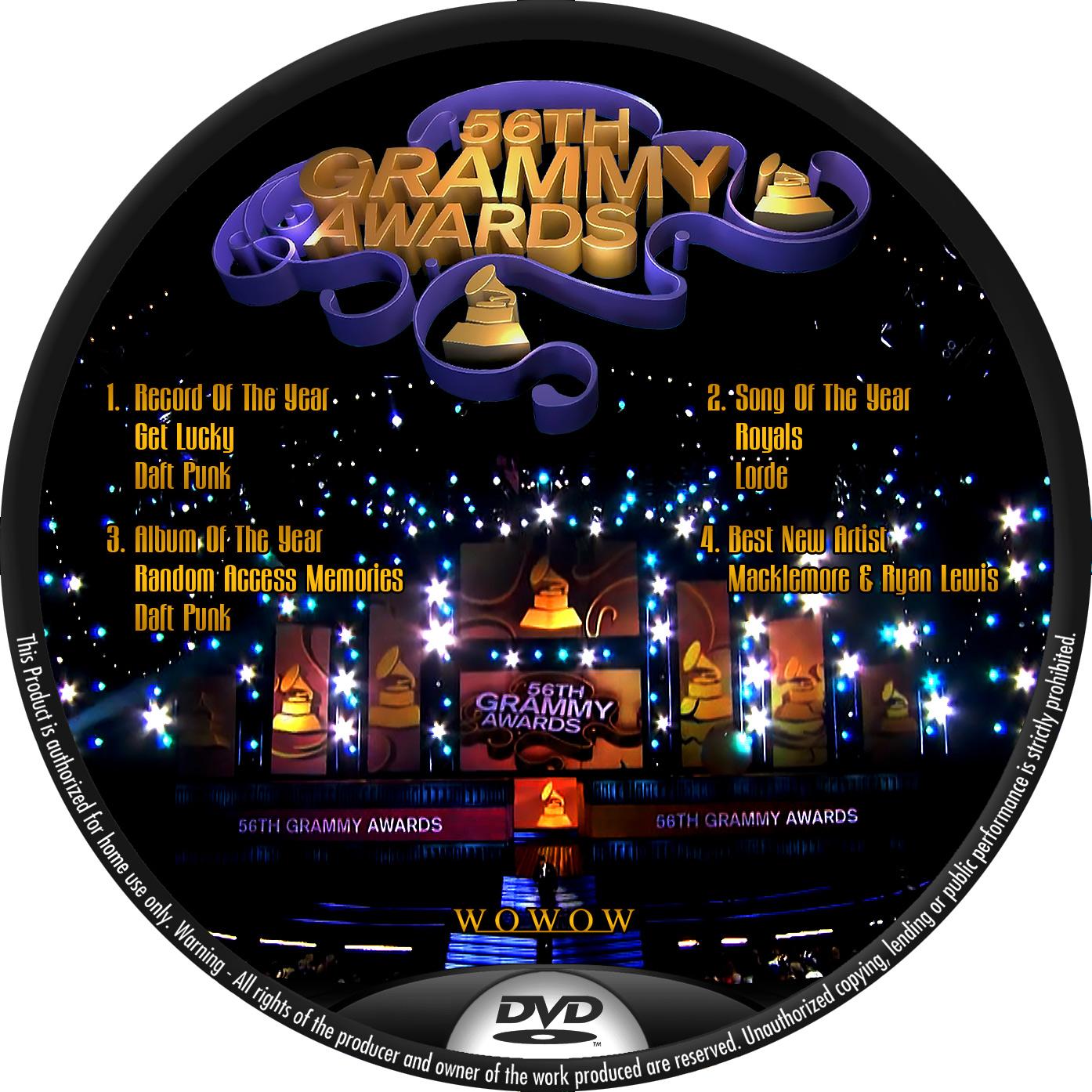 第56回グラミー賞 WOWOW DVDラベル