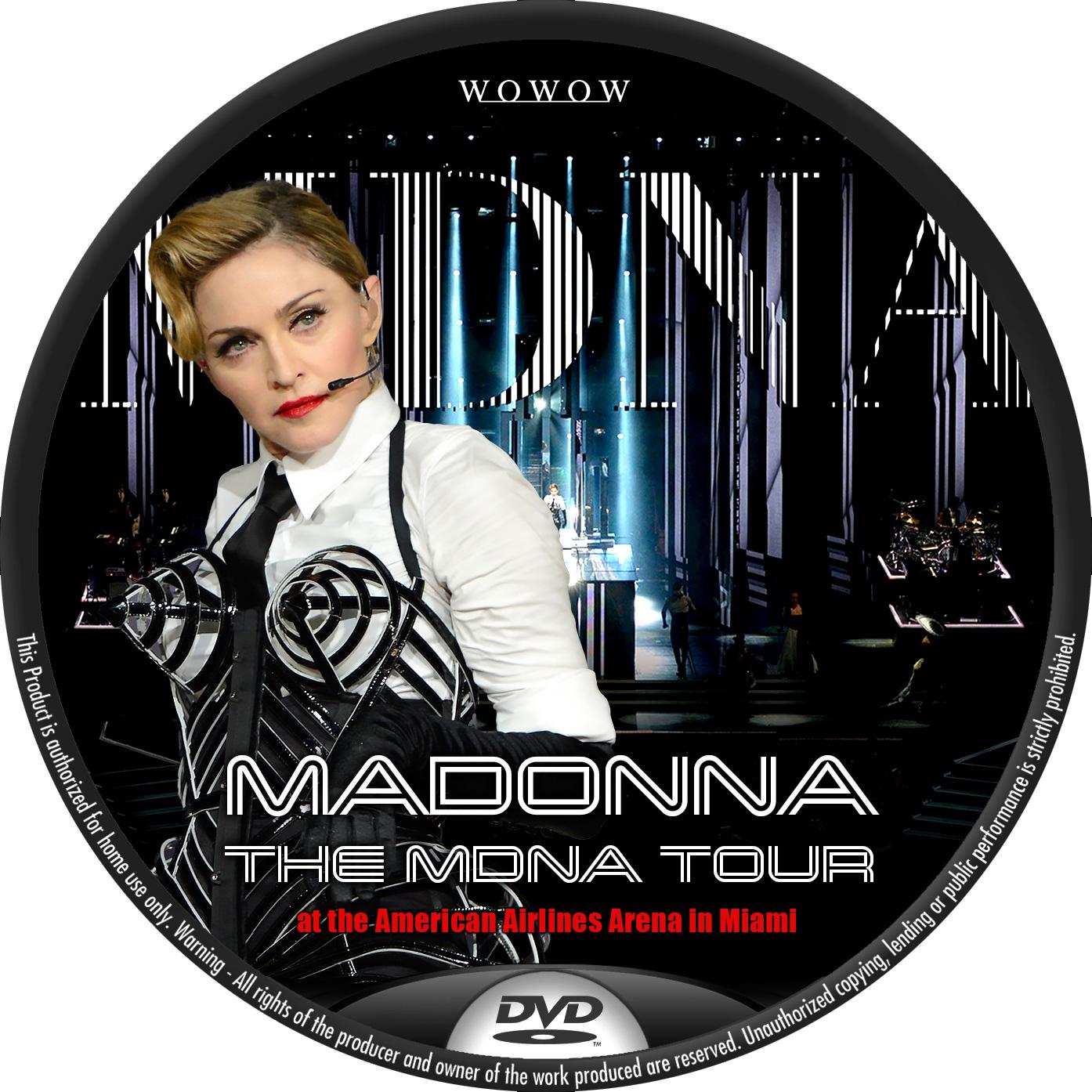 マドンナ WOWOW DVDラベル