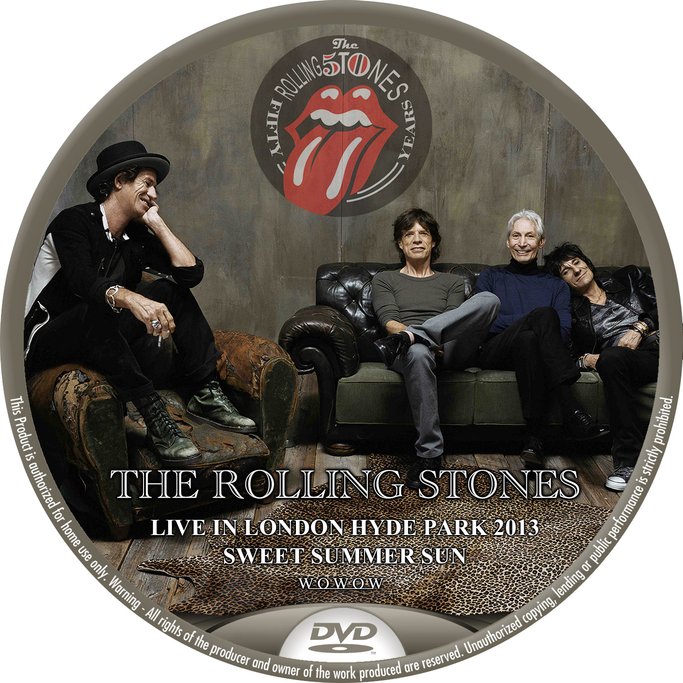 Rolling Stones WOWOW DVDラベル