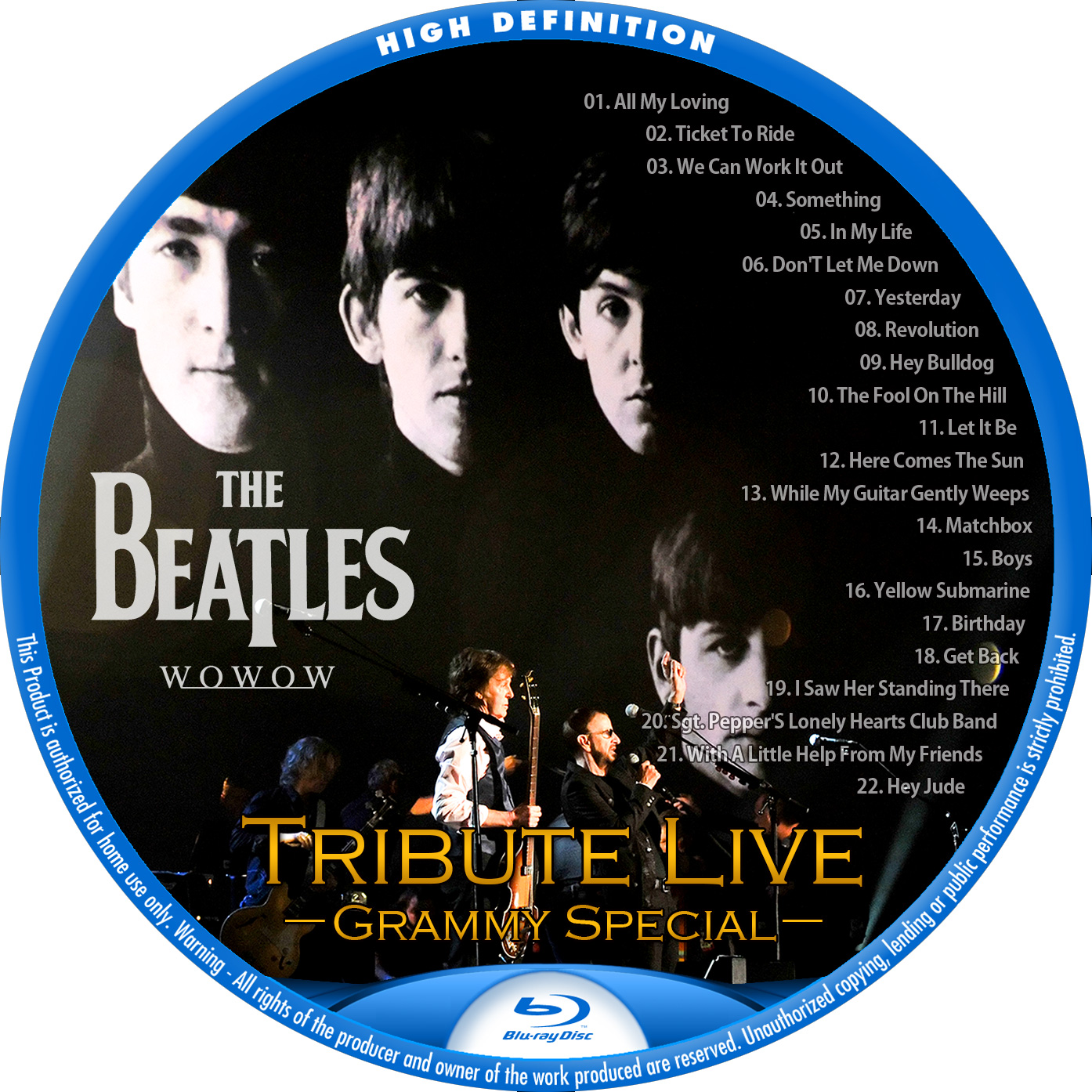 Beatles Tribute BDラベル