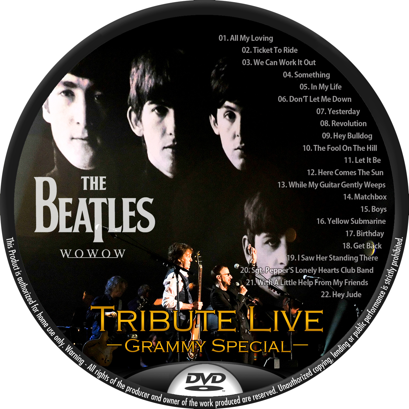 Beatles Tribute DVDラベル
