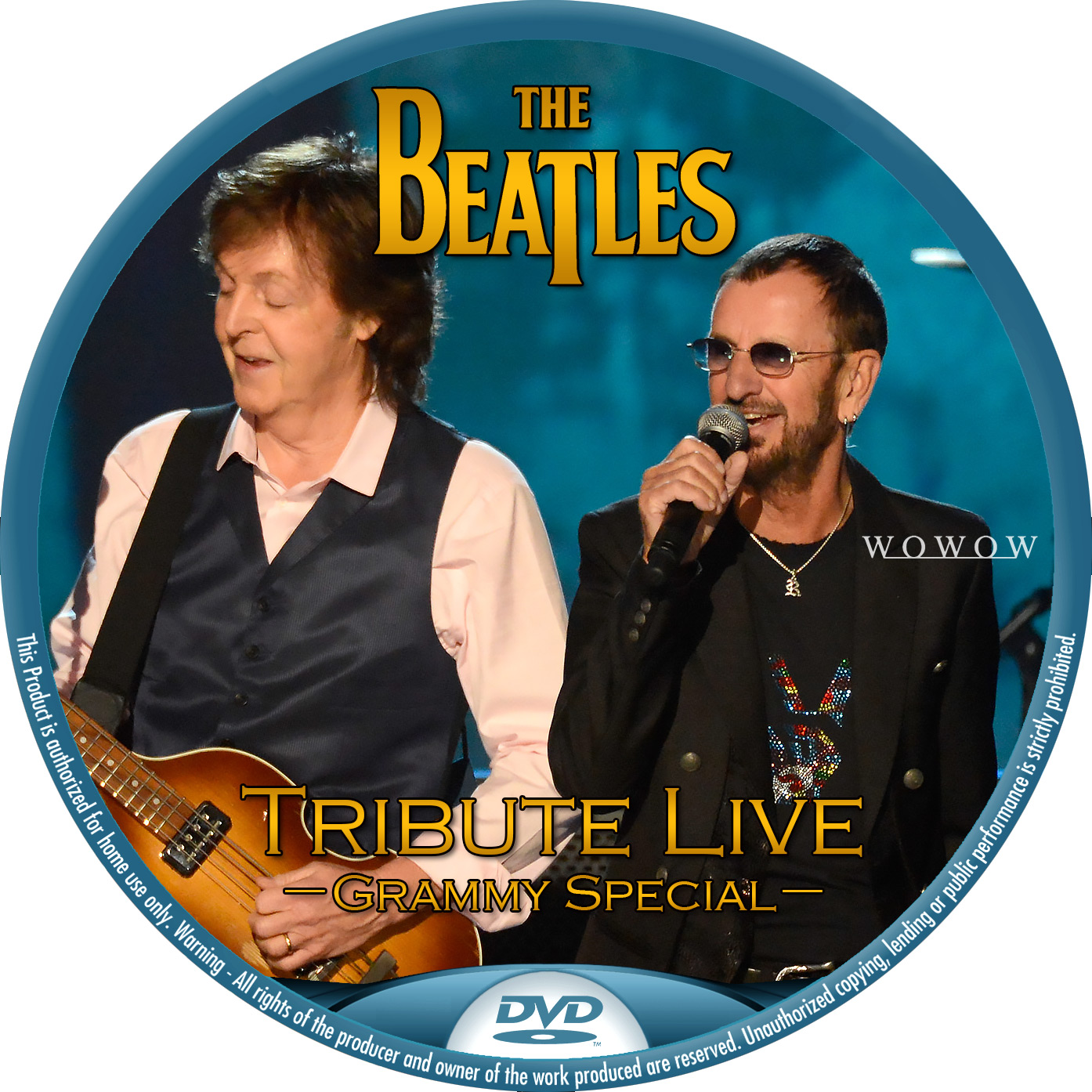 Beatles Grammy DVDラベル