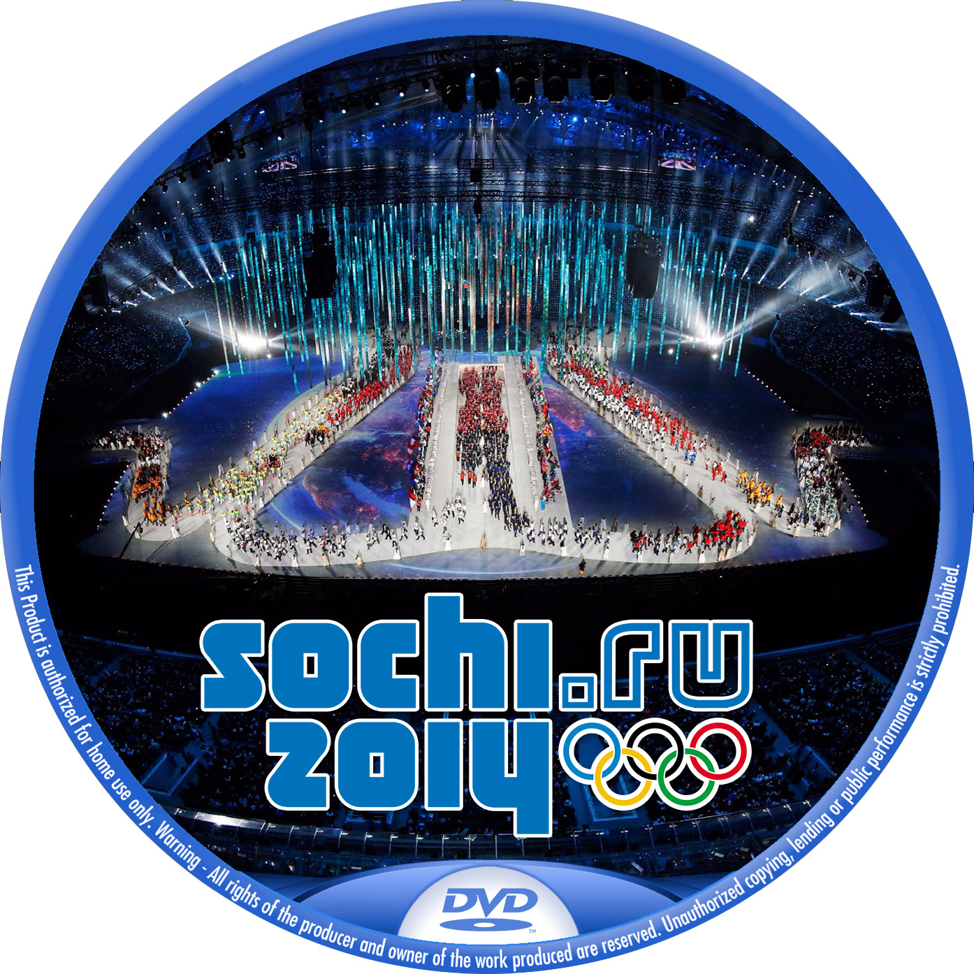 Sochi Olympic DVDラベル