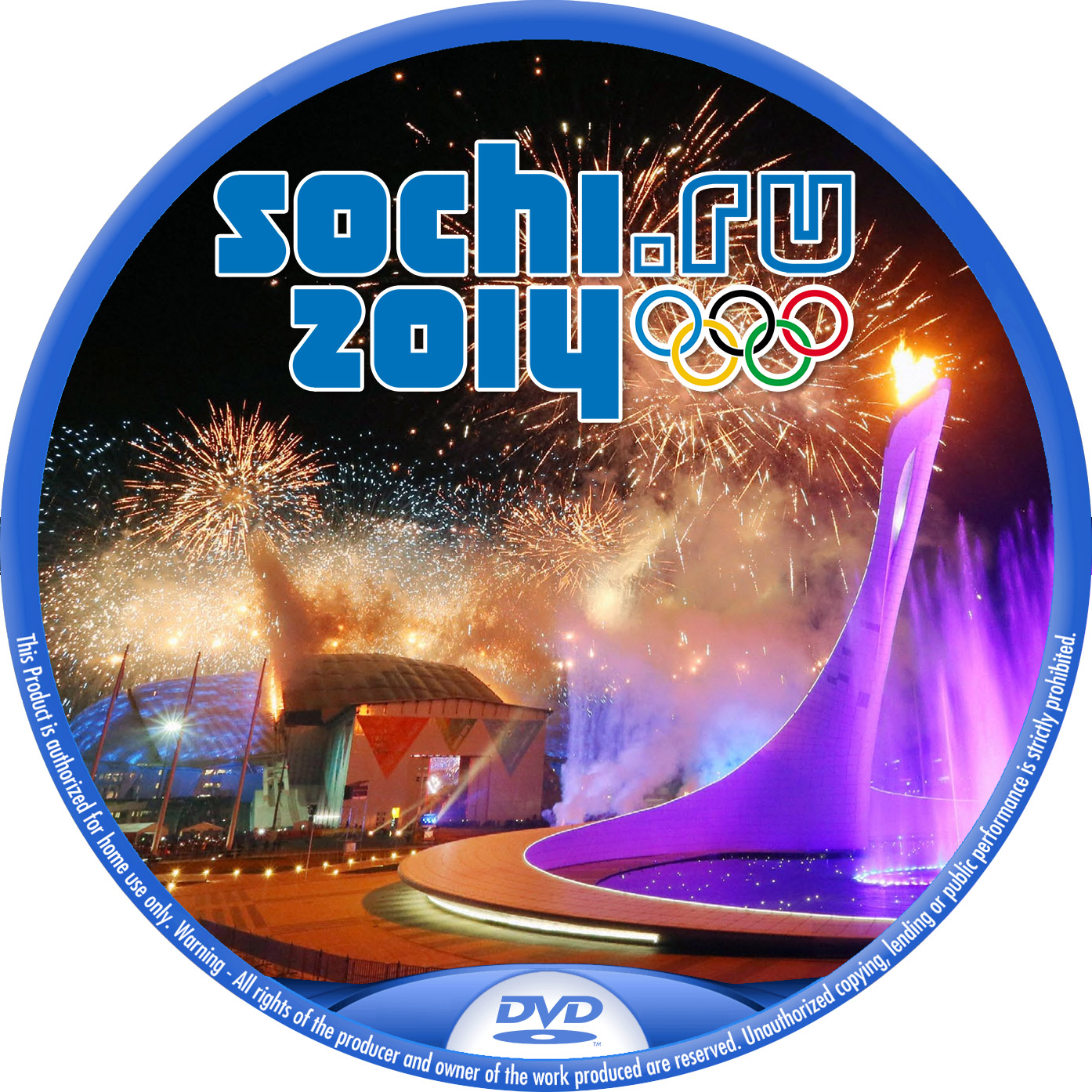 ソチオリンピック DVDラベル 汎用版
