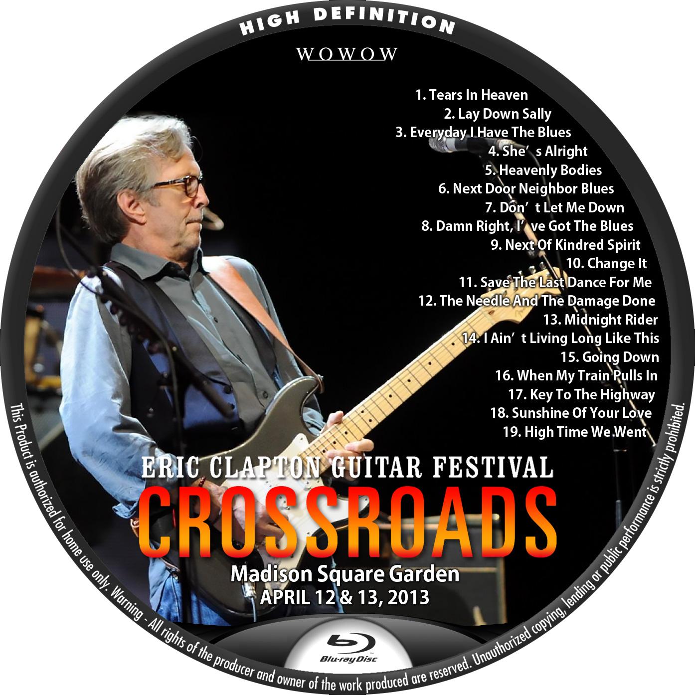 Clapton 2013 WOWOW BDラベル