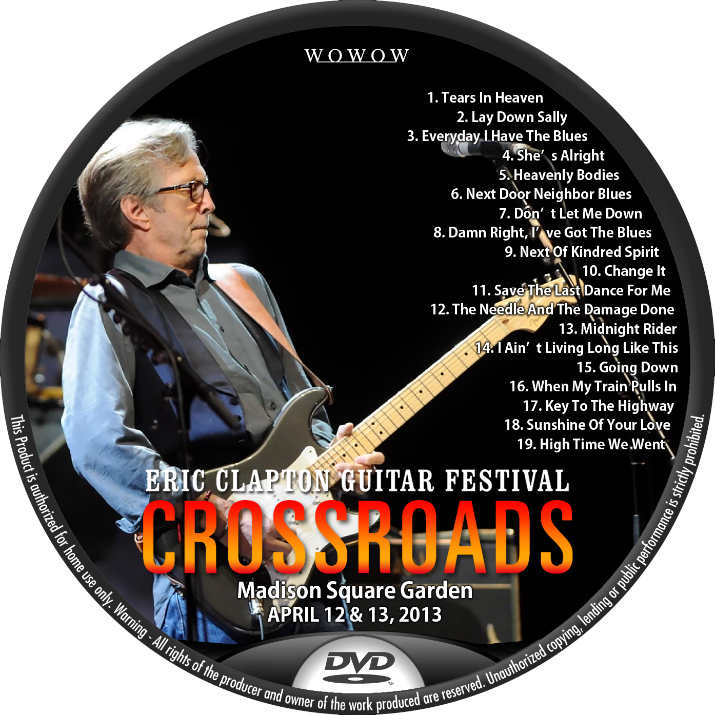 Clapton 2013 WOWOW DVDラベル