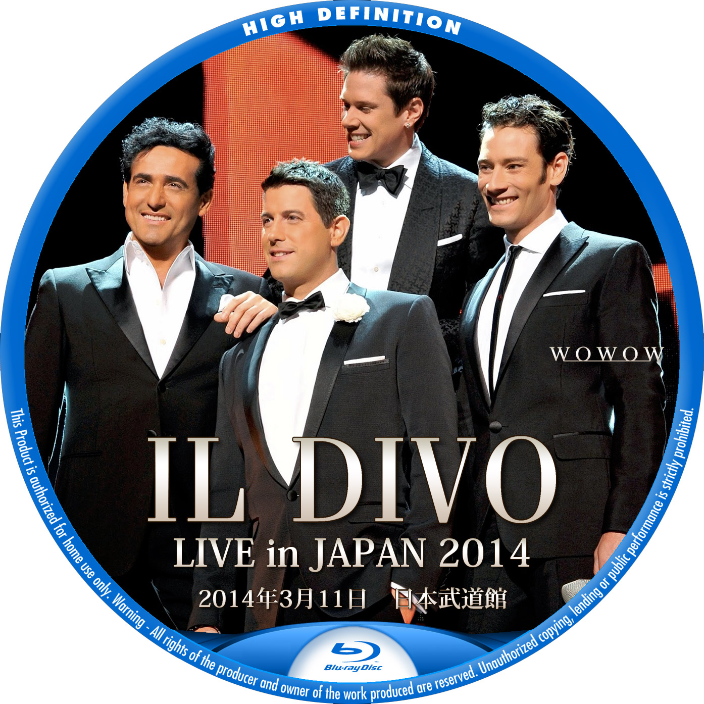 IL DIVO LIVE IN JAPAN BDラベル