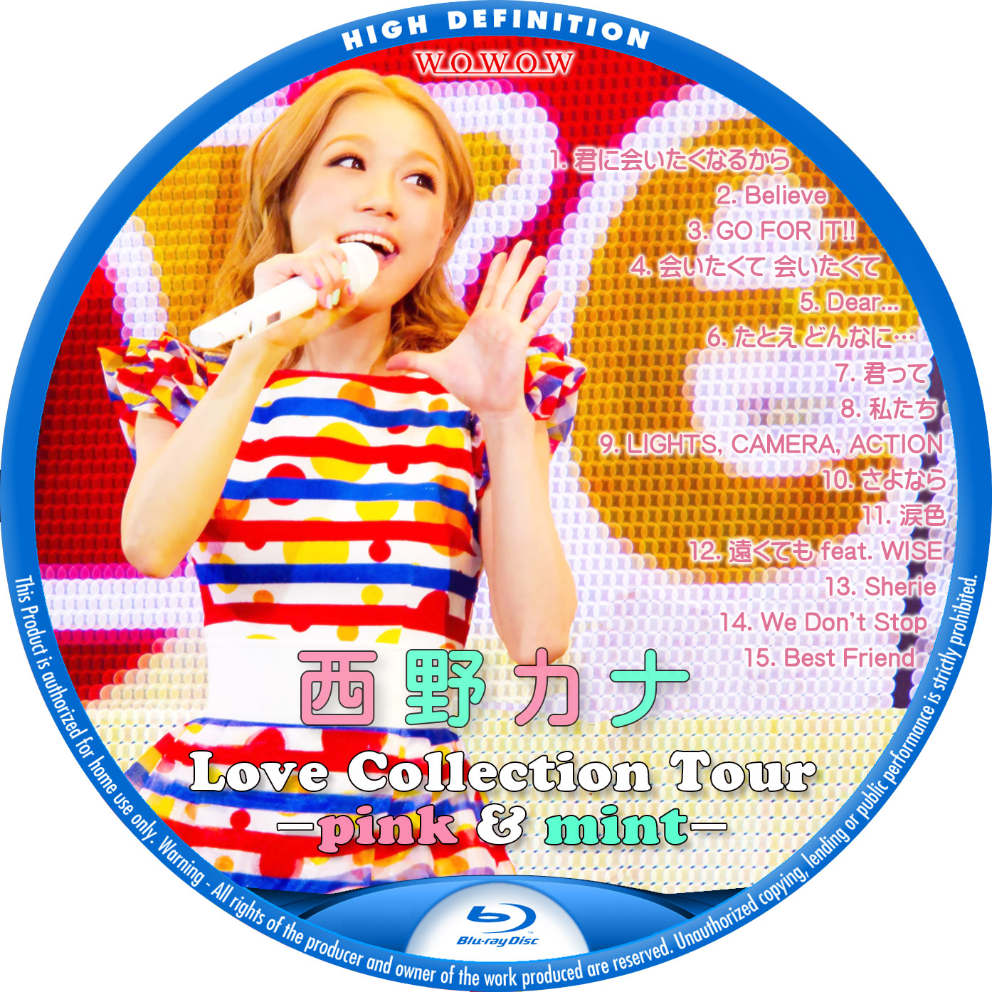 西野カナ Love Collection Tour 2014 BDラベル