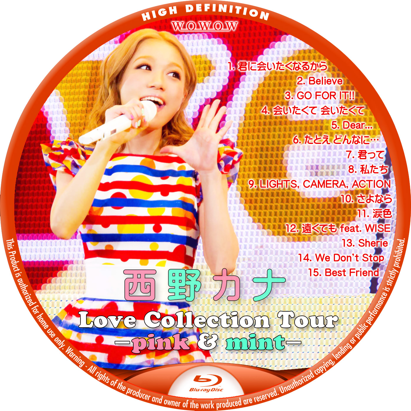 西野カナ Love Collection Tour 2014 Blu-ray ラベル