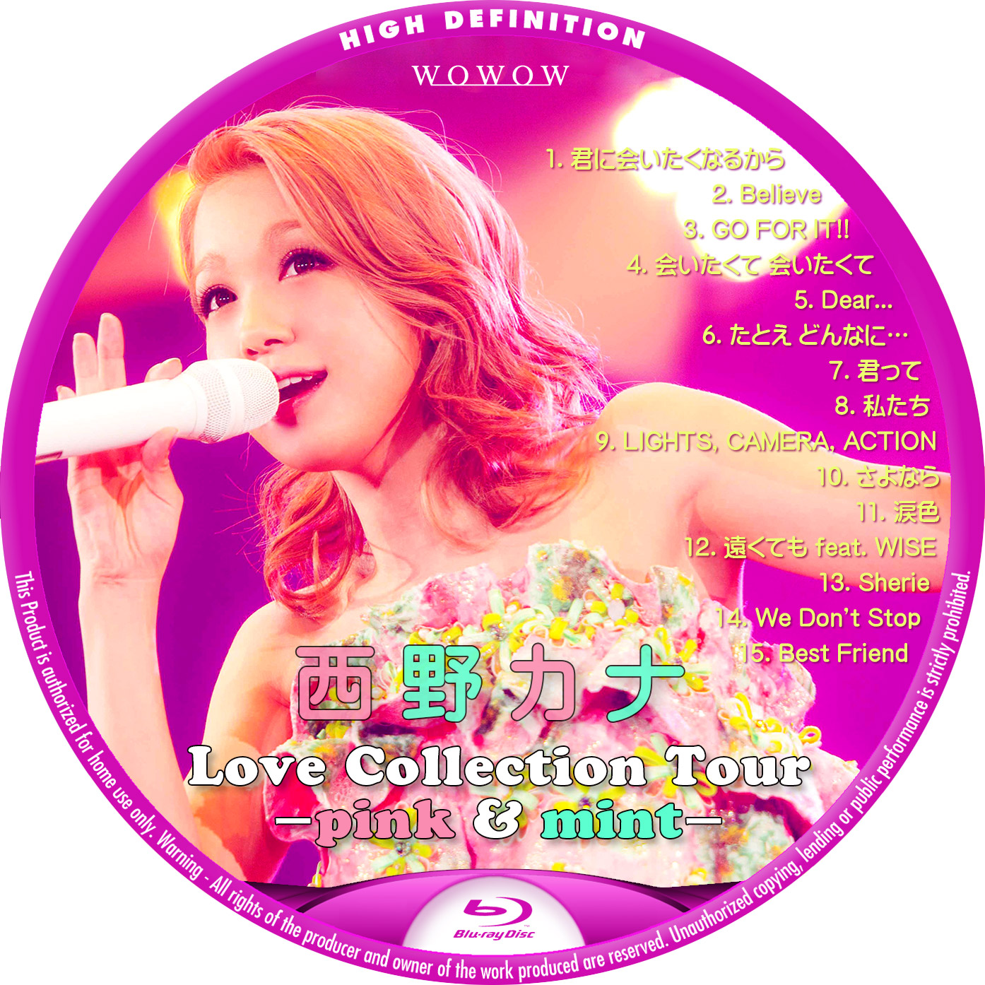 西野カナ WOWOW 2014 Blu-ray ラベル