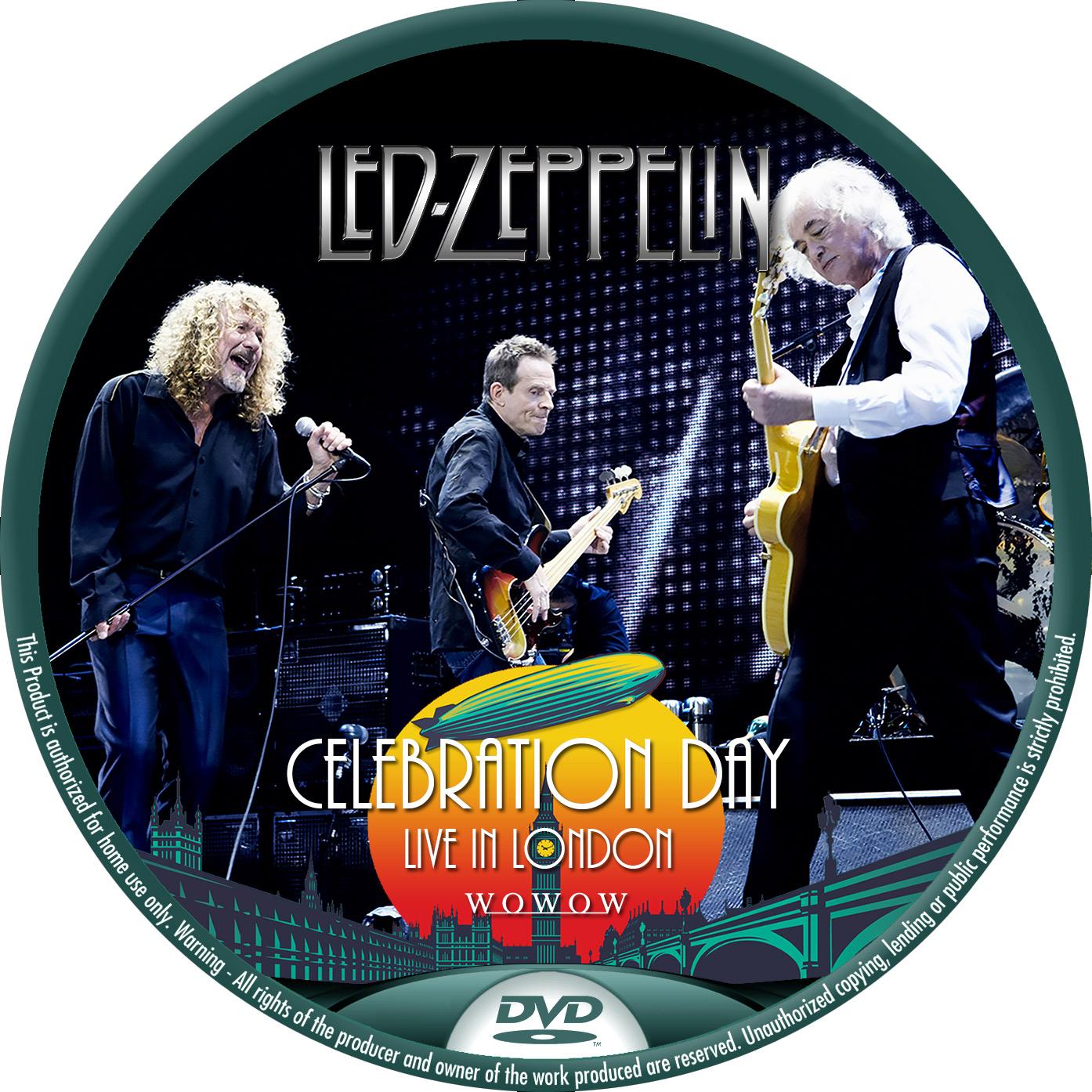 LED ZEPPELIN ライブ DVDラベル
