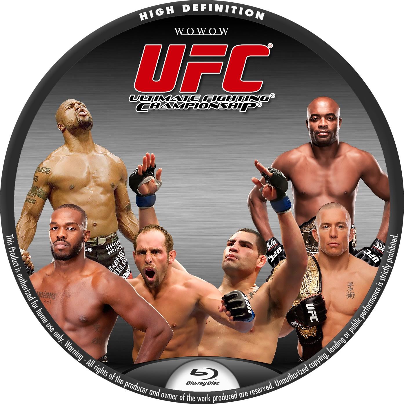 UFC Blu-ray BDラベル WOWOW