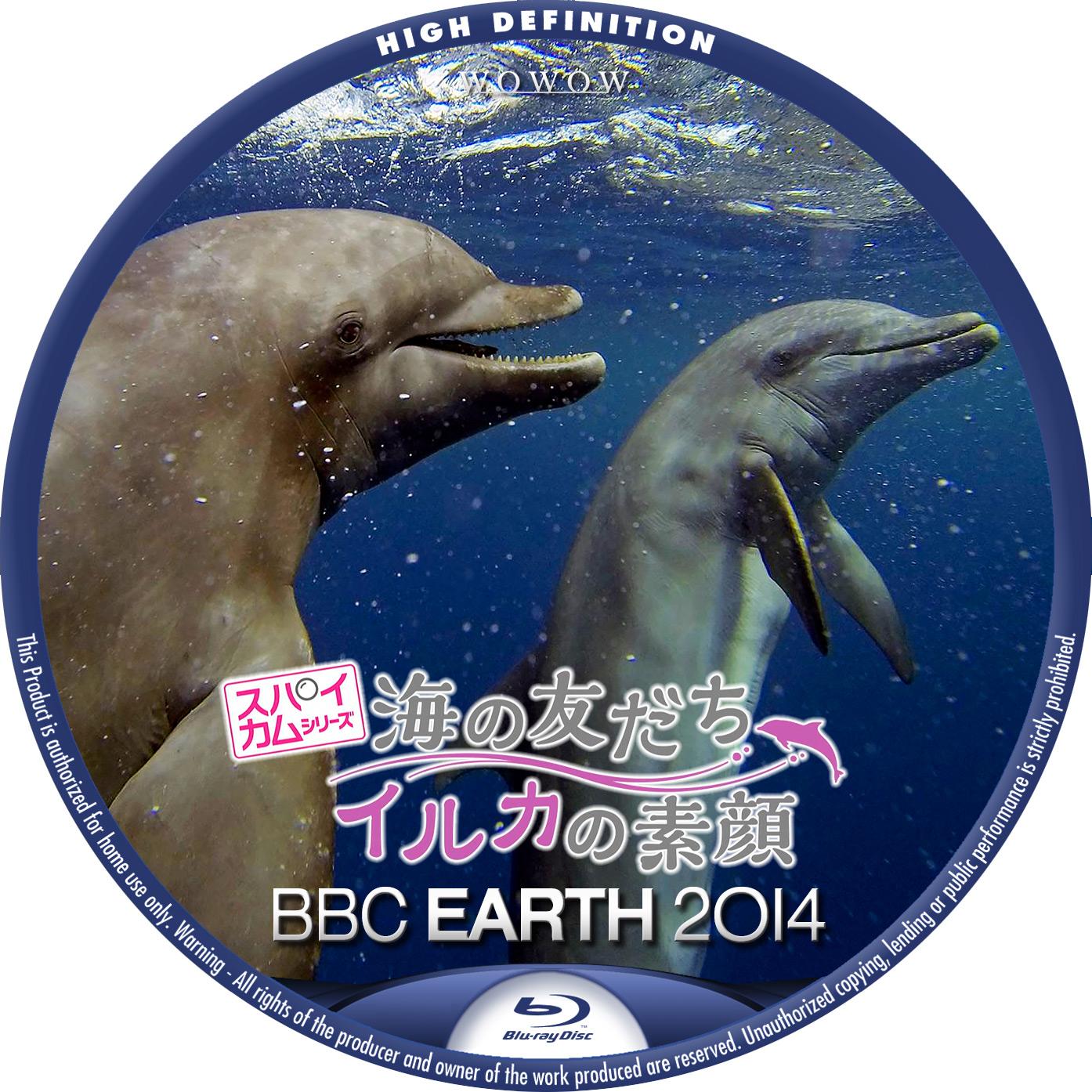 BBC EARTH 2014 スパイカム 海の友だち イルカの素顔 BDラベル Blu-ray
