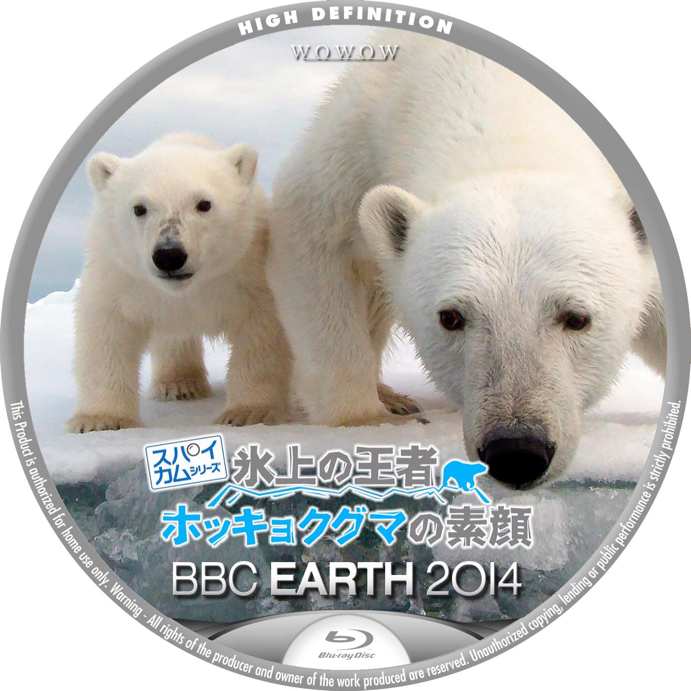 BBC EARTH 2014 スパイカム 氷上の王者 ホッキョクグマの素顔 BDラベル Blu-ray