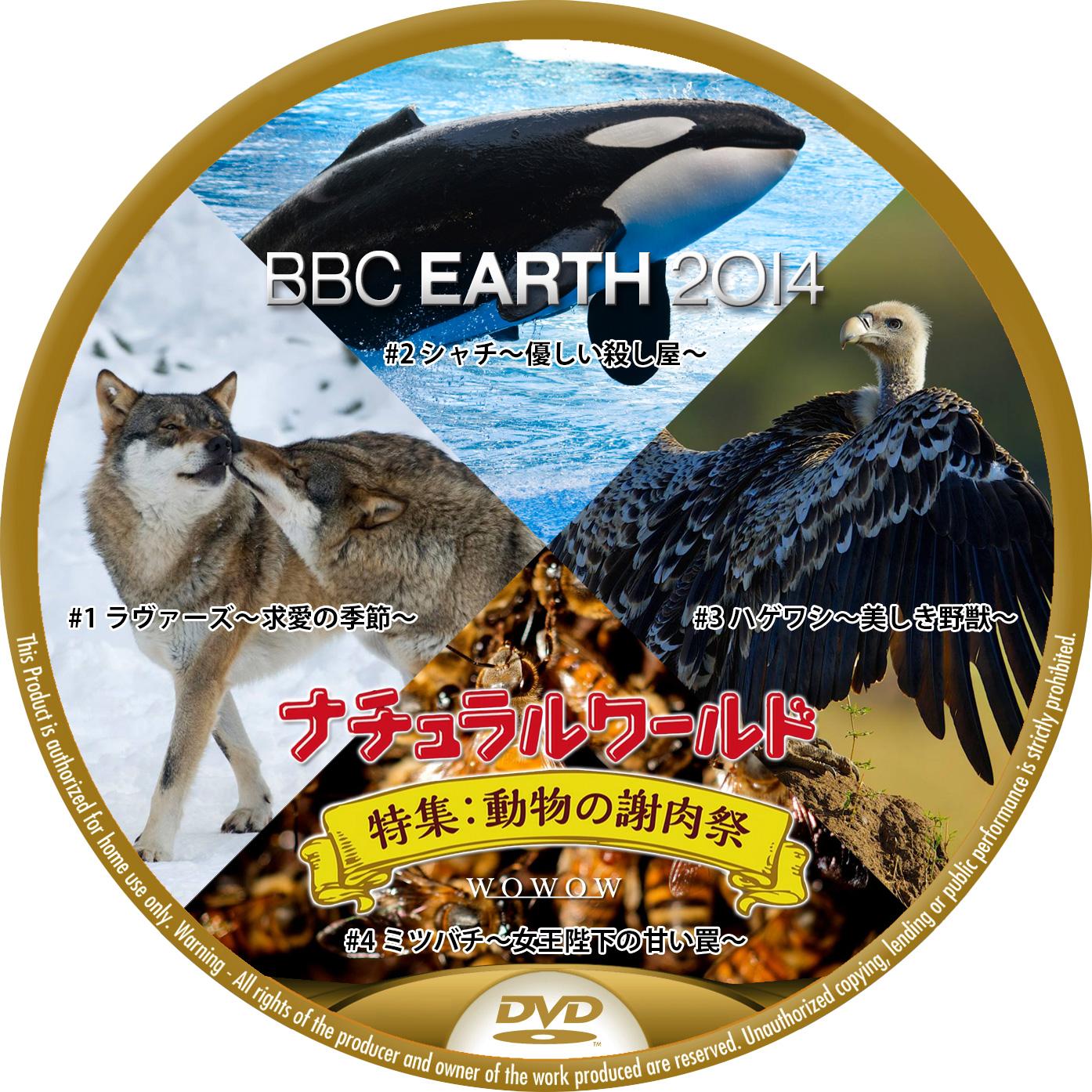 BBC EARTH 2014 WOWOW 動物の謝肉祭 DVDラベル